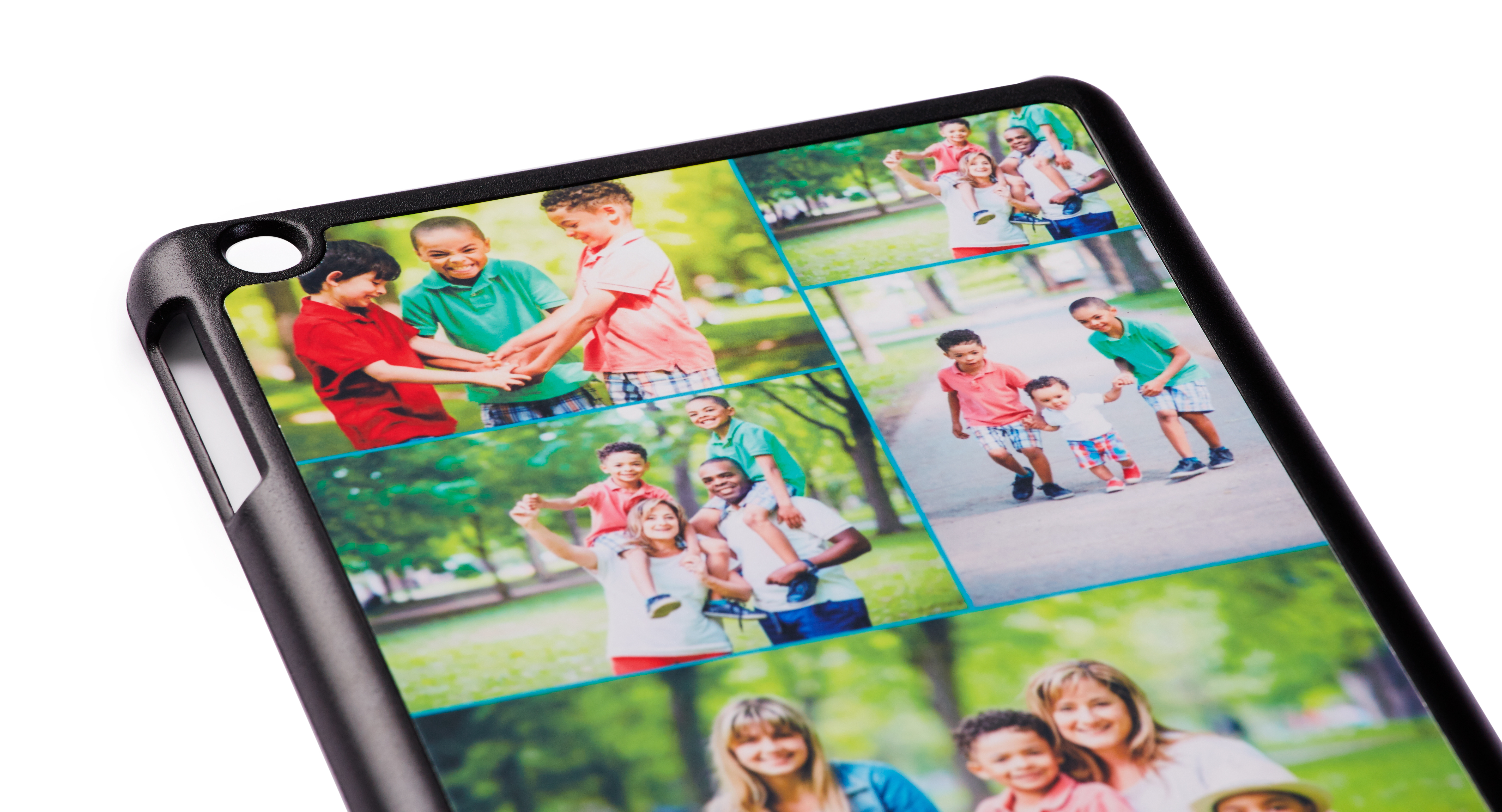 iPad case printed with colorful family photos